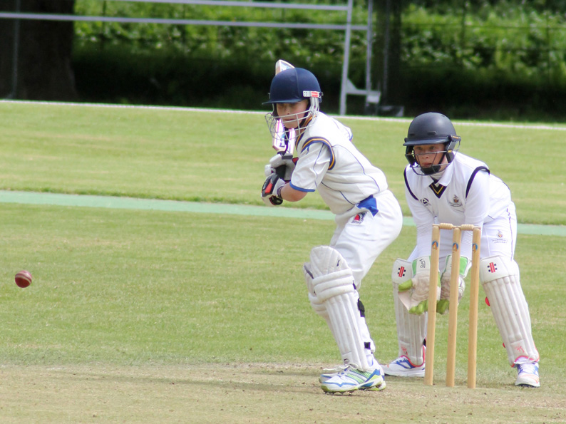 Finlay Hall batting for Devon U11s against Gloucestershire at Heathcoat