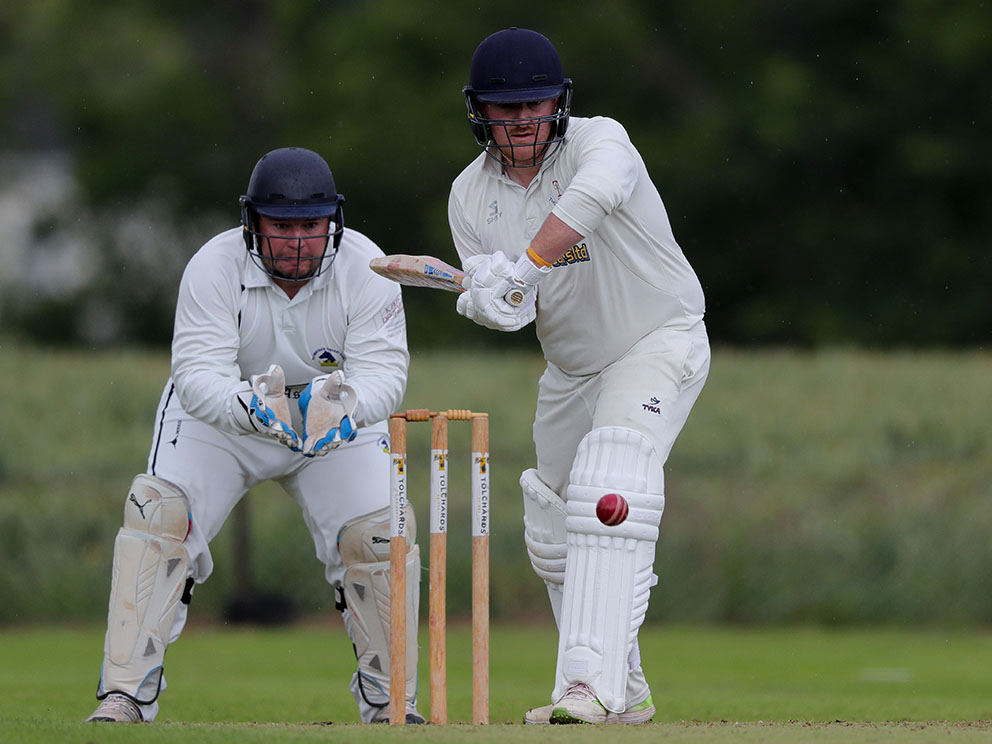 Thoverton captain Andy Pitt, who compiled a half-century in the win over Bovey Tracey 2nd XI