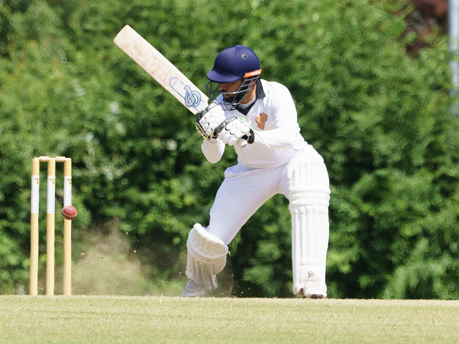 Jamal Anwar who scored a T20 ton for Cullompton and ended up on the losing side against Alphington<br>credit: Mark Lockett