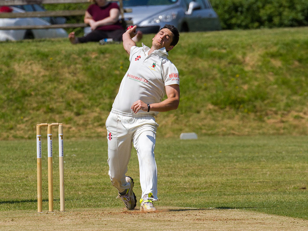 Neil Maud - three wickets for Sandford 2nd XI in the win over Honiton