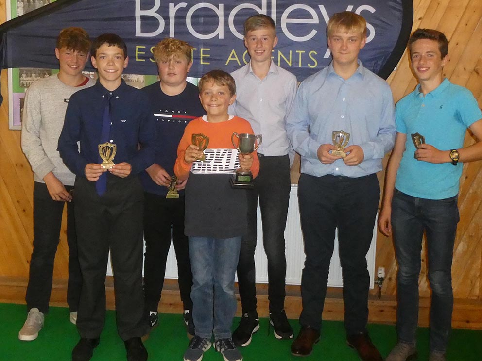 Ottery St Mary's young cricketers, who won the under-14 division in 2109 and shared the under-13 title with  Heathcoat
