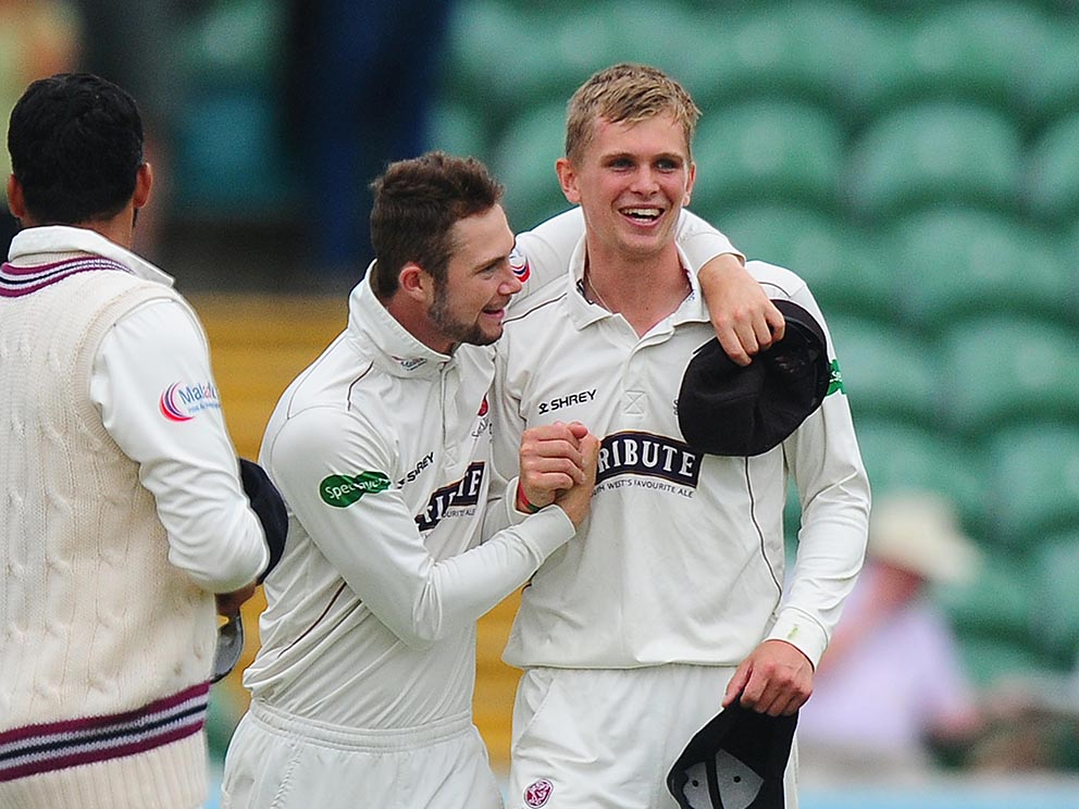 Ollie Sale (right), who has been handed a contract extension by Somerset
