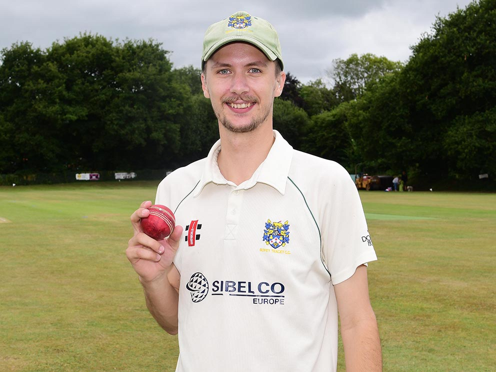 Hugo Whitlock – another hat-trick for Bovey Tracey<br>credit: @ppauk