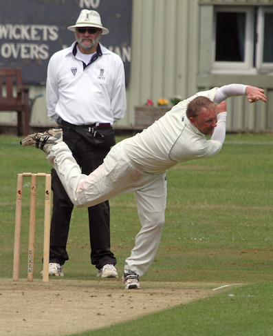 Nick Taylor - pick of the bowlers for Axminster