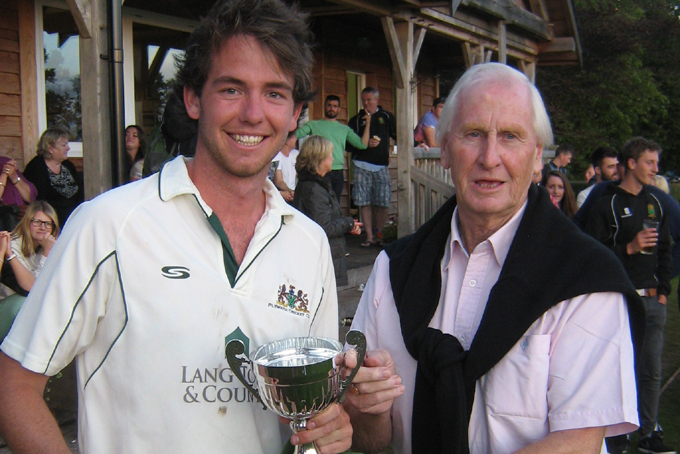 Plymouth's Harry Ramsden collecting the Euro Shopper Devon Cup last season
