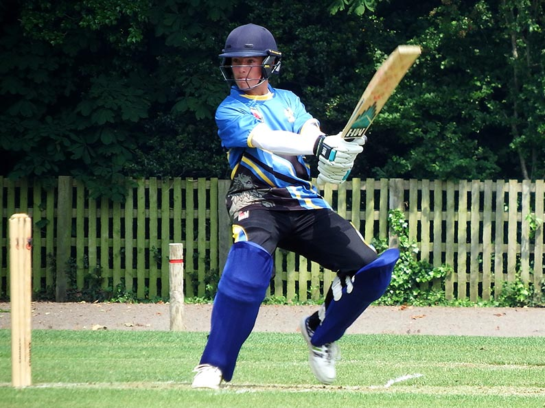 Ben Beaumont reeling off the runs for Devon against Berkshire earlier this season
