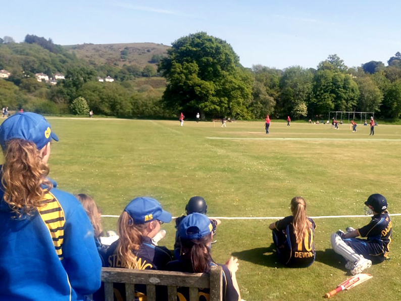 View from the boundary - Devon batting against Wales at Chagford