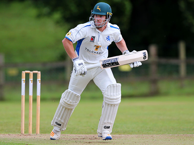 Chris Read batting for Devon against Shropshire at Sandford last season