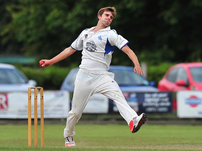 Ben Green - working on his fitness ready to start bowling again