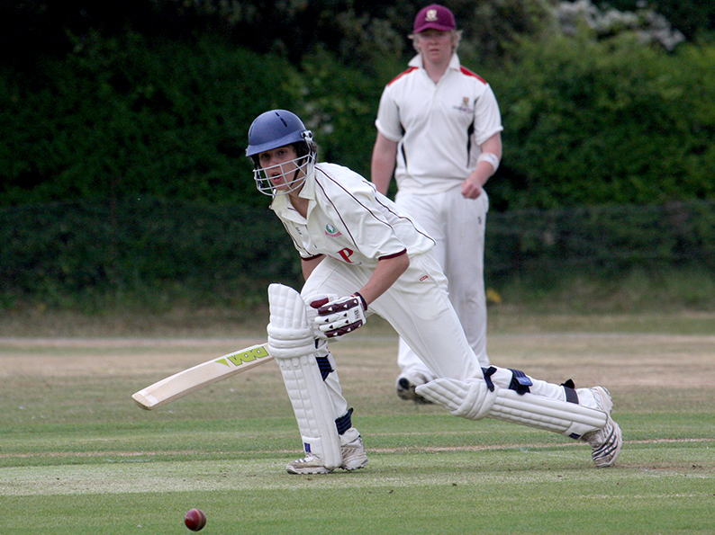 Harrison Folland - top scored for Exmouth 2nd XI against Upottery