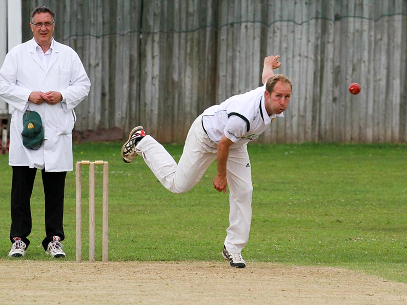 Mark Kingdon - three wickets for Feniton against Whimple