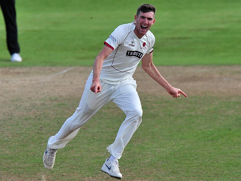 Craig Overton - taking a break from England preparations to play for Hildy