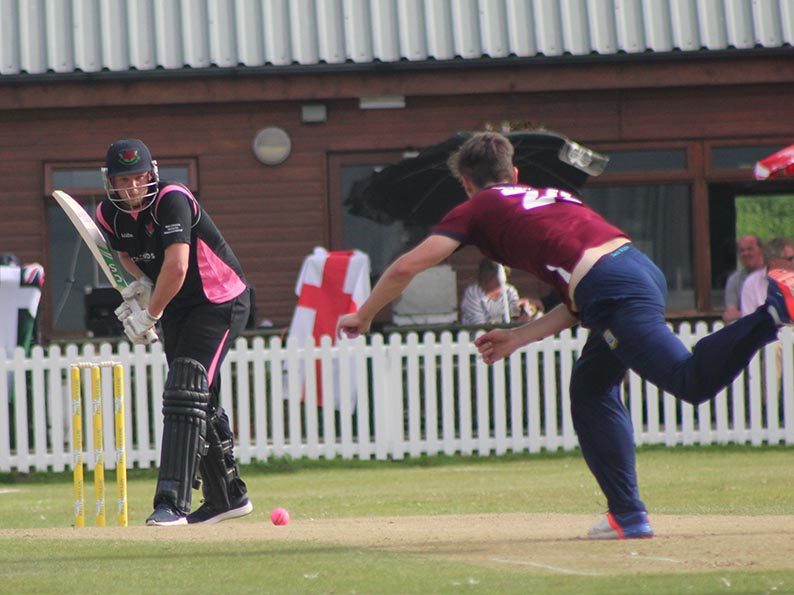 Action from last year's finals day at Budleigh, when Torquay defeated Exmouth in the final