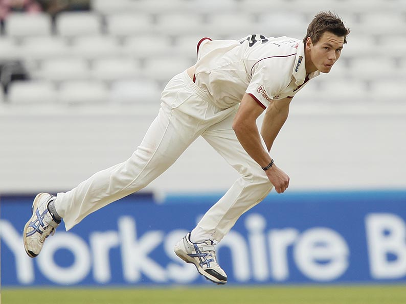 Flashback - Adam Dibble bowling for Somerset against Yorkshire in the 2011 season