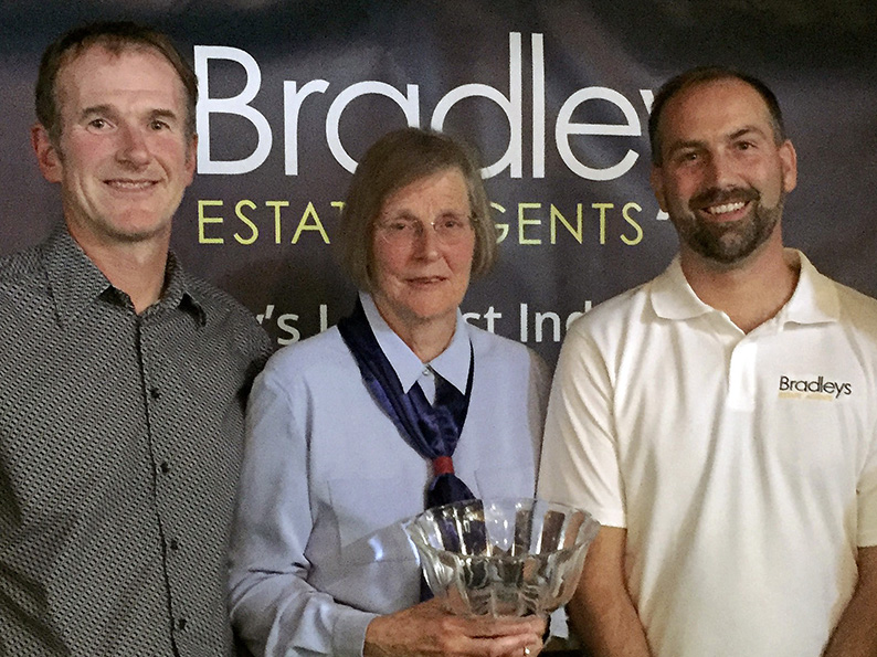 Flashback: Robert Bradshaw-Smith (left) with Sheila Harding and Kai Logan at the Bradleys EDYL awards evening