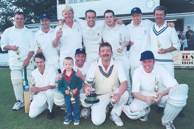 The 2002 South Devon team after they defeated Lustleigh in the final