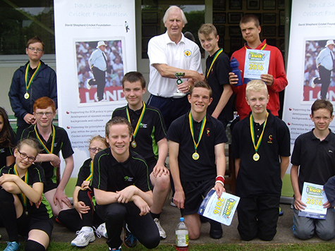 Flashback! Winners and young leaders from Newton Abbot College at last year's festival