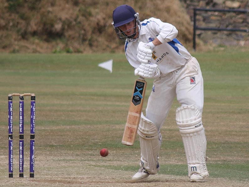 Jamie Stephens on his way to a career best 99 for Devon against Cornwall at Werrington