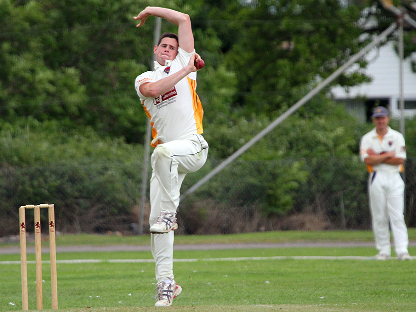 Joe Berry - four big wickets for Seaton