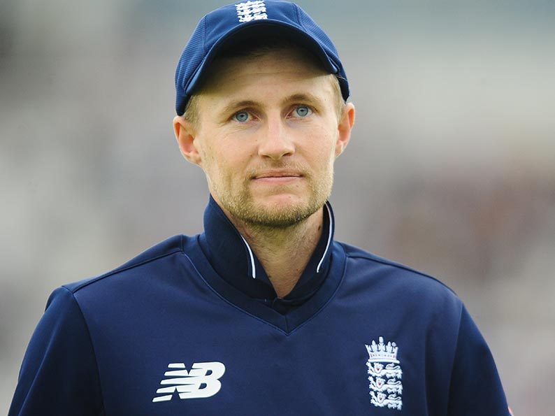 Joe Root - click the photo to hear him talking about Dom Bess