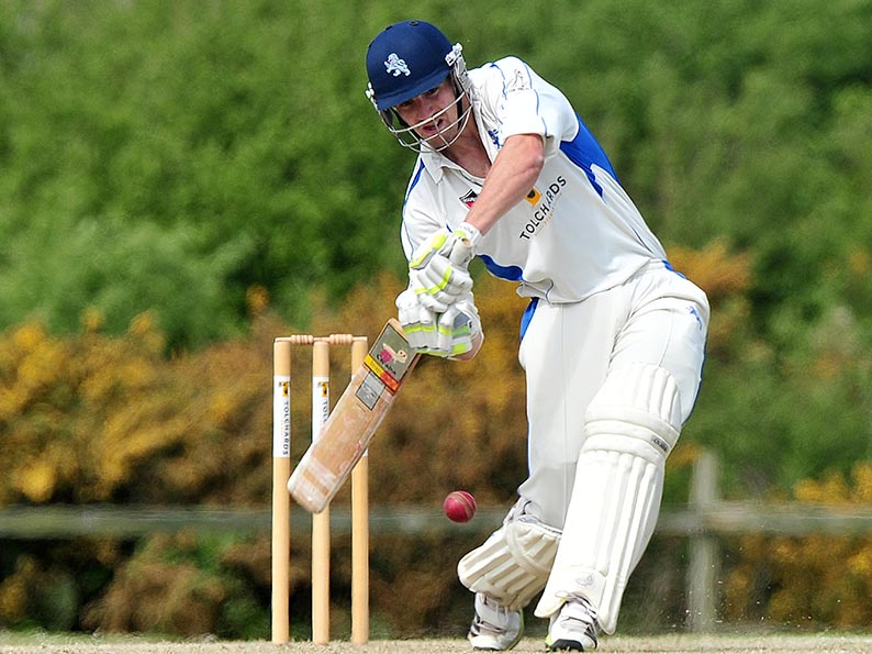 Josh Bess - 120 against Bradninch. Brother Zak made 137 not out