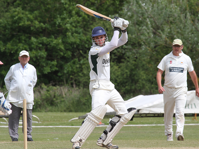 Lloyd Murrin - hit a half-century for Budleigh against Sandford