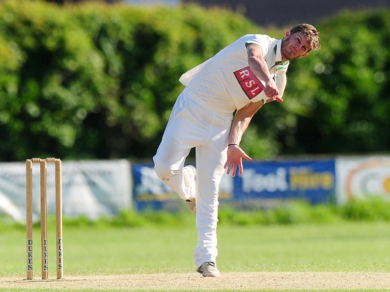 Matt Foster - runs and wickets for Bradninch in the win over Plymouth<br>credit: http://www.ppauk.com/photo/1042675/