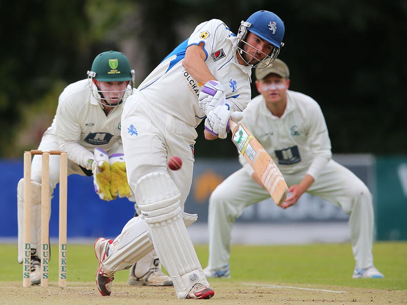 Matt Thompson on his way to 97 for Devon against Berkshire<br>credit: &#039;Brave&#039; decision to bat first rewarded with total of 279 all out
