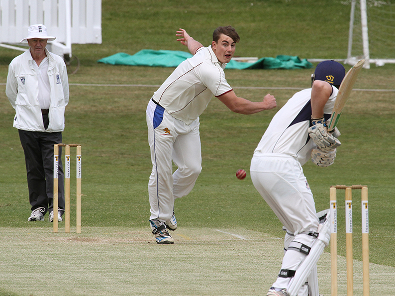 Ollie Dawe, who bowled Exmouth to victory over visiting Chardstock