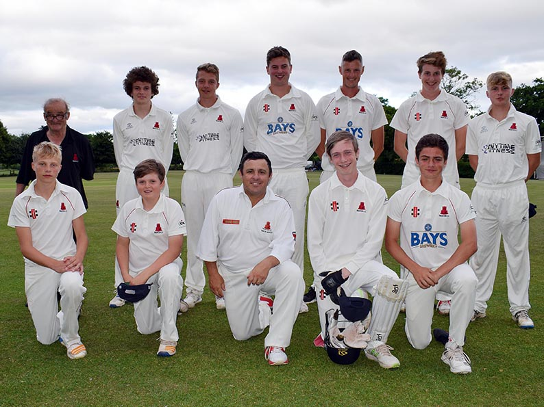 Paignton II. Back (left to right): Brian Dawe, Luke Medlock, Harry Ward, Noah Wright, Mark Smith, Jack Harman, Cole Harford. Front: Charlie Ward, Rory Medlock, Jason Woodcock, Sam Glanfield, Sam Woodcock