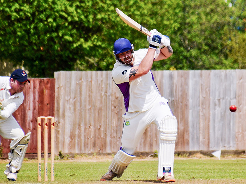 Brendon Parr - hit a brisk 87 for Cullompton