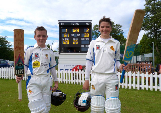 Jake Pascoe and Cameron Ford after their winning partnership against Wiltshire at Torquay