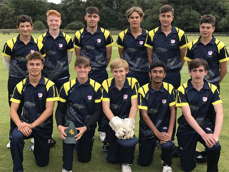 Plympton U19s, who are (back, l/r): Ben Privett, Will Scott-Munden, Joe Hogan-Burt, Jonty Walliker, Jacob Caunter, Josiah Caunter; front: Tobin Barker, Elliot Hamilton, Oli Goulder, Fahad Ali, James Degg