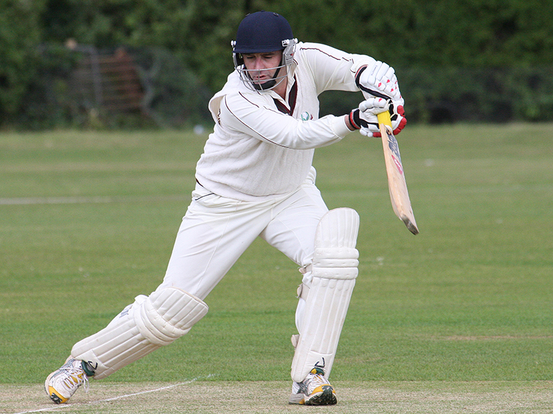Stuart Rintoul, who made a rare appearance for Exmouth against Chardstock and scored a few runs!