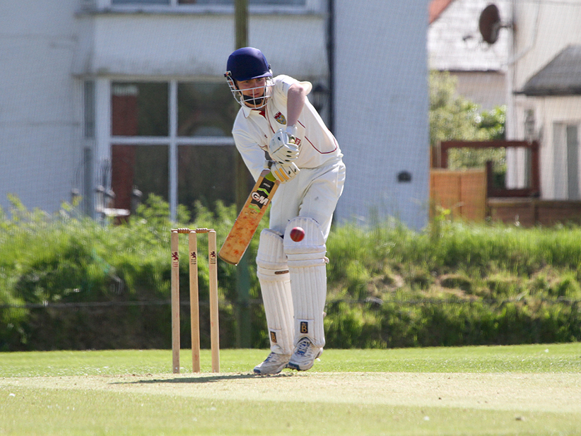 Sam Goodier - half-century for Exmouth against Chardstock