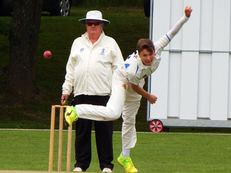 Four wickets for Sonny Baker against Somerset