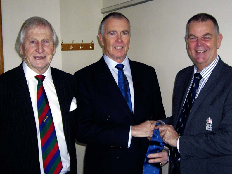 Stuart Munday, Jack Davey (centre) and Geoff Miller at a David Shepherd Trust fund-raiser