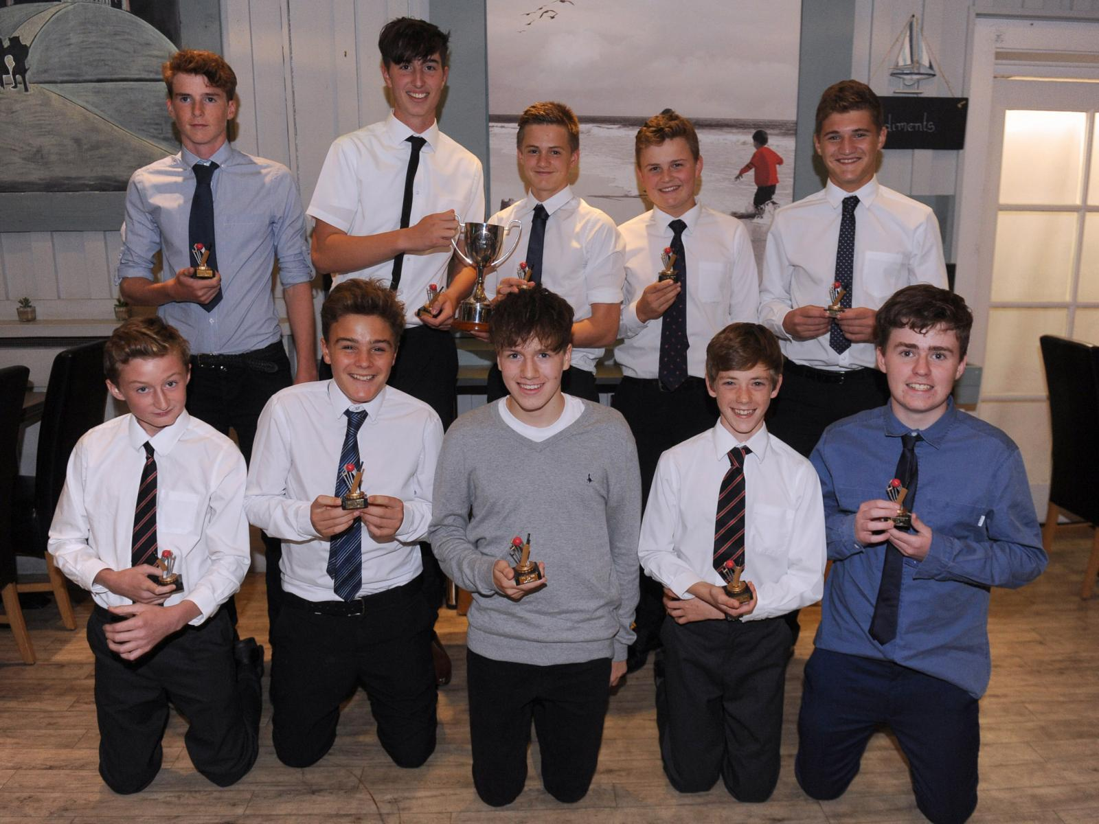 Heathcoat U15s with the DCS & SCS Cup
