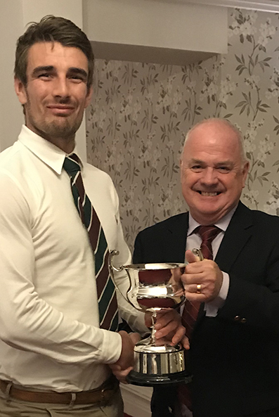 Josh Bess receiving Sidmouth 1st XI batting award