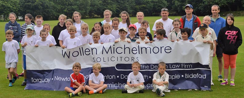 Players and coaches from Ipplepen CC, Paignton CC and Chagford CC at the Kwik Cricket festival that took place at Ipplepen CC