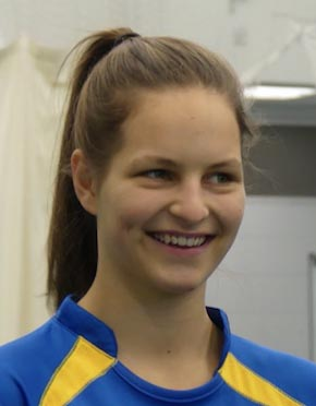 Holly Perkin - first lady player to appear in a Brockman Cup final
