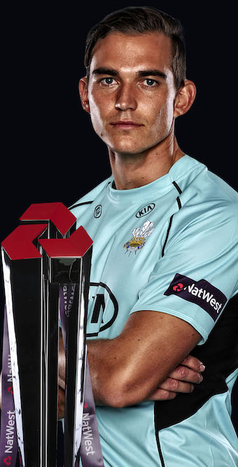 James Burke kitted out for T20 action with Surrey