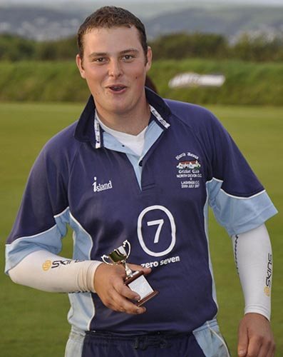 FLASHBACK: North Devon's Matt Dart with the man of the match award after his four-wicket haul helped defeat Plympton in the 2009 final at Instow