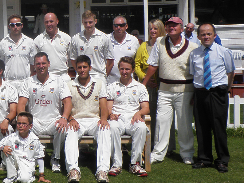 Nick Evanson (far right) at Torquay CC