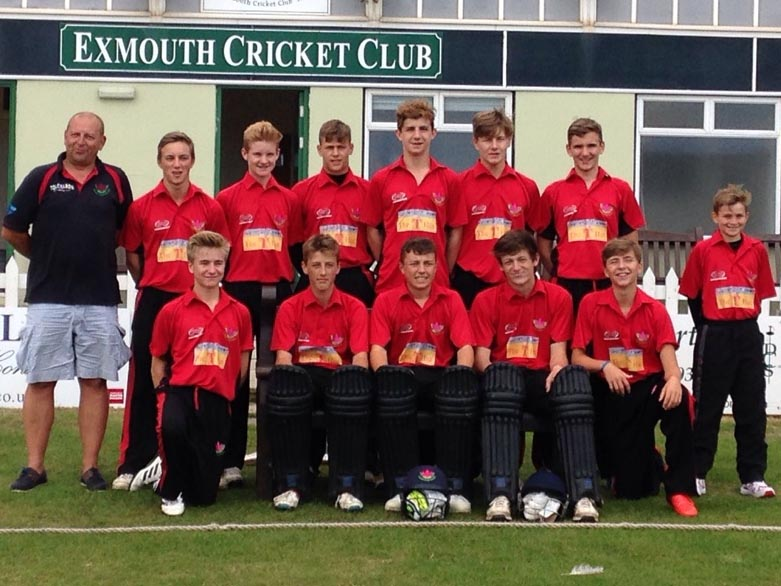 Exmouth before their showdown with Lisvane. Back (left to right): Mark Davies, Jack Tucker,Ollie Pugsley, Louis Morison, Joe Hancock, Jake Pond, Sam Austin, Ethan Brenton. Front: Joe Graham, James Horler, Luke Davies, Cameron Kidd, Jack Ottaway