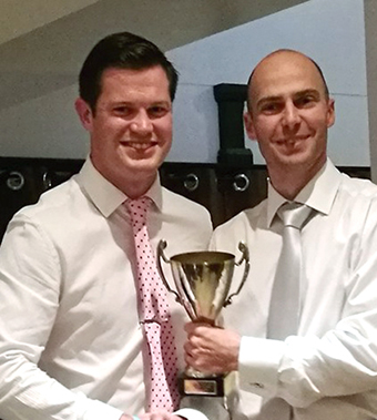 Lloyd White receives the batting award from Ashley Berry