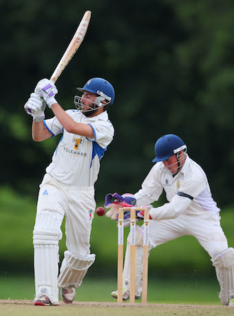 Matt Thompson on his way to 30 not out against Shropshire