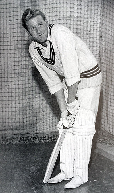 Chris Greetham in the nets at Somerset as a young professional