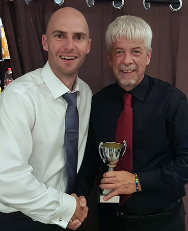 Jerry Crouch (right) who shared the 2nd XI Captain's Cup with Freddie Harvey