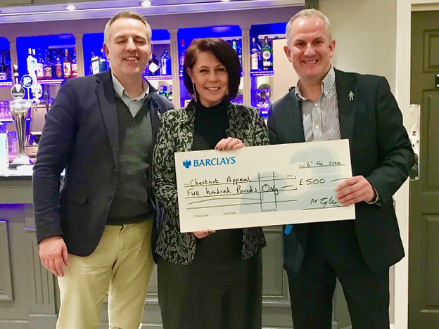 CHEQUE MATES: Left to right are Jason Carlisle, Lesley Ann-Simpson and Mark Tyler<br>credit: Contributed